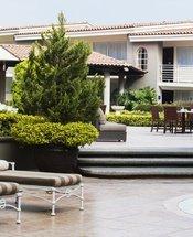 Zona de la piscina Hotel Krystal Satélite María Bárbara Tlalnepantla de Baz